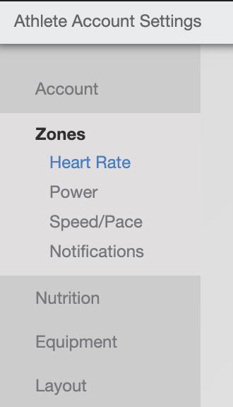 Updating Training Peaks Zones